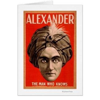 Alexander el hombre que sabe el poster mágico tarjeta de felicitación