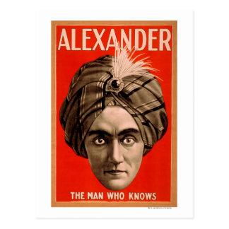 Alexander el hombre que sabe el poster mágico tarjetas postales