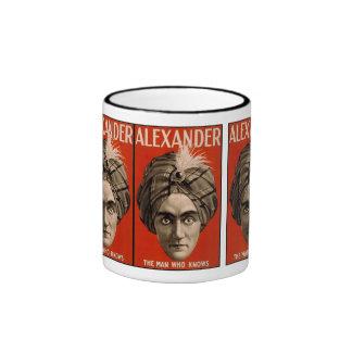 Alexander el hombre que sabe magia taza de dos colores