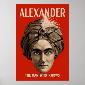 Alexander el hombre que sabe póster