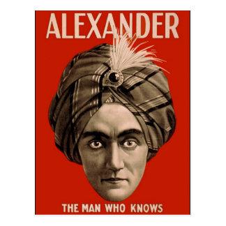 Alexander el hombre que sabe postal