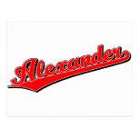 Alexander en rojo postales