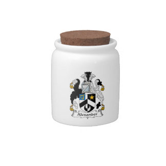 Alexander Family Crest Candy Jar
