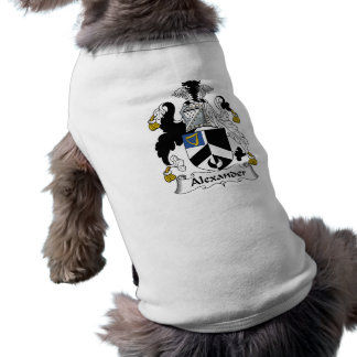 Alexander Family Crest Pet Clothing
