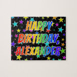 "[ Thumbnail: ""Alexander"" First Name, Fun ""Happy Birthday"" Jigsaw Puzzle ]"