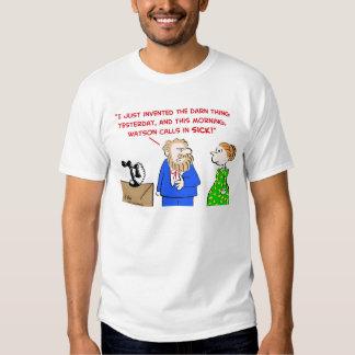 alexander graham bell calls sick telephone t-shirt