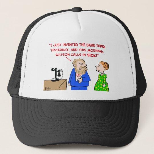 alexander graham bell calls sick telephone trucker hat