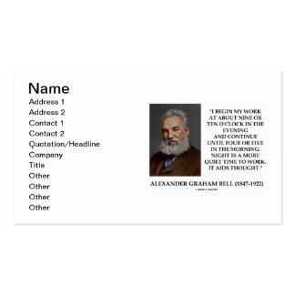 Alexander Graham Bell Night More Quiet Time Work Business Card