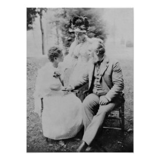 Alexander Graham Bell with Helen Keller Poster