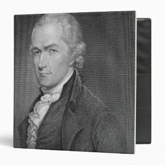 Alexander Hamilton (1757-1804) engraved by John Fr 3 Ring Binder