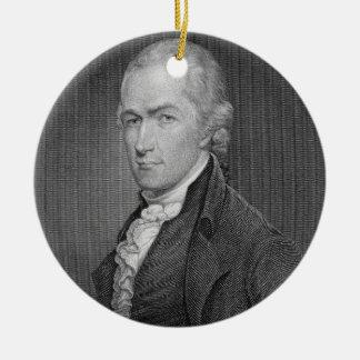 Alexander Hamilton (1757-1804) engraved by John Fr Ceramic Ornament
