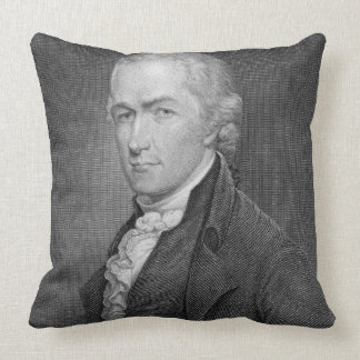 Alexander Hamilton (1757-1804) engraved by John Fr Throw Pillow