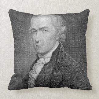 Alexander Hamilton 1757-1804 grabado por Juan fr Almohada