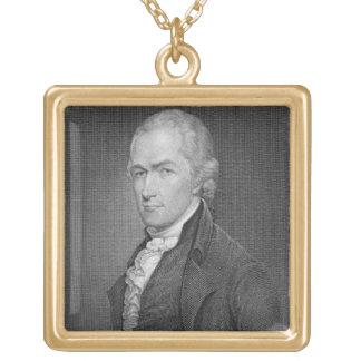 Alexander Hamilton (1757-1804) grabado por Juan fr Colgante Cuadrado