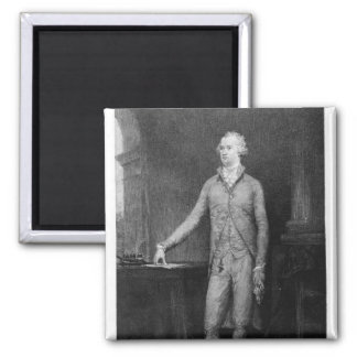 Alexander Hamilton, after the painting of 1792 2 Inch Square Magnet