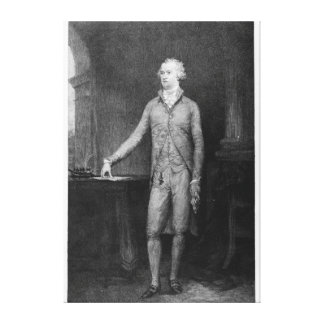 Alexander Hamilton, after the painting of 1792 Canvas Print