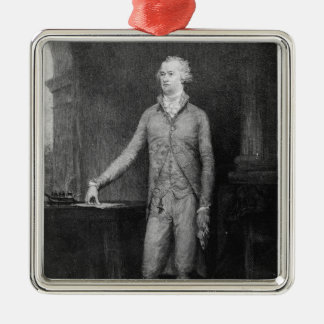 Alexander Hamilton, after the painting of 1792 Square Metal Christmas Ornament