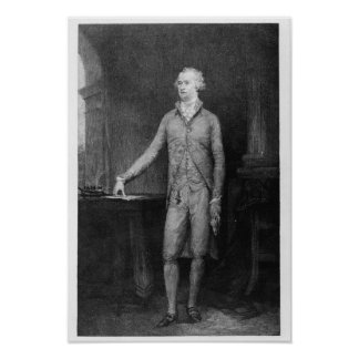 Alexander Hamilton, after the painting of 1792 Poster
