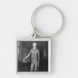 Alexander Hamilton, after the painting of 1792 Silver-Colored Square Keychain