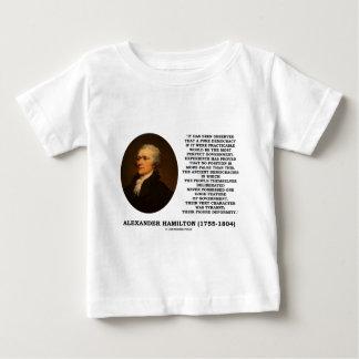 Alexander Hamilton Democracy Experience Tyranny Baby T-Shirt