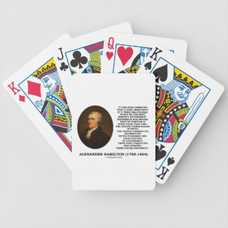 Alexander Hamilton Democracy Experience Tyranny Bicycle Playing Cards