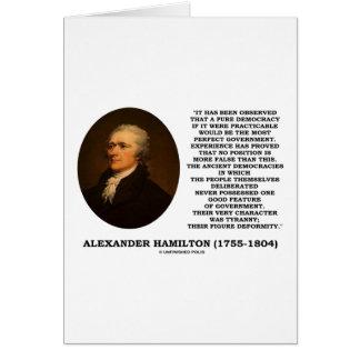 Alexander Hamilton Democracy Experience Tyranny Greeting Cards