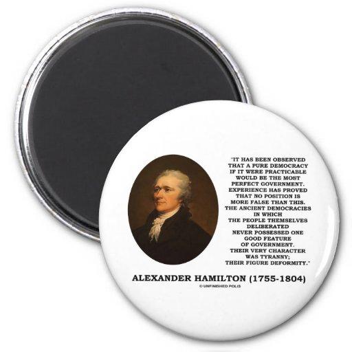 Alexander Hamilton Democracy Experience Tyranny Fridge Magnets