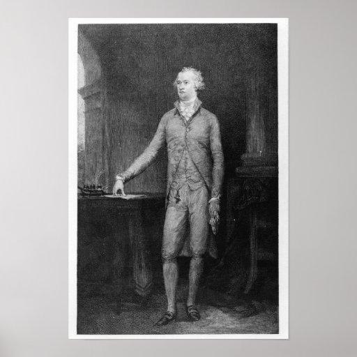Alexander Hamilton, después de la pintura de 1792 Póster