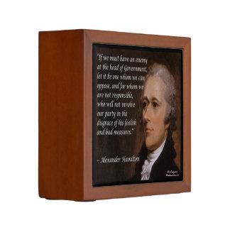 "Alexander Hamilton ""Enemy Leader"" Desk Organizer"