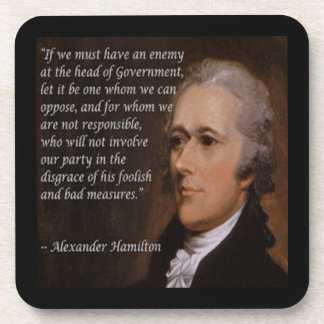 "Alexander Hamilton ""Enemy Leader"" Gift Coaster"
