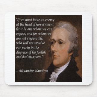 "Alexander Hamilton ""Enemy Leader"" Gift Mouse Pad"