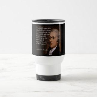 "Alexander Hamilton ""Enemy Leader"" Gift Travel Mug"