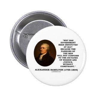 Alexander Hamilton Government Passion Constraint Pins