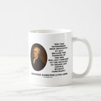 Alexander Hamilton Government Passion Constraint Coffee Mug