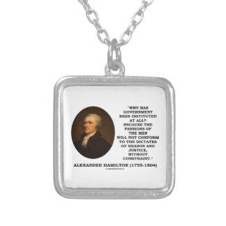 Alexander Hamilton Government Passion Constraint Custom Necklace