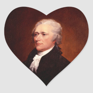 Alexander Hamilton Heart Sticker