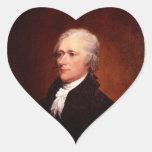 Alexander Hamilton Pegatina En Forma De Corazón