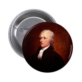 Alexander Hamilton Pin Redondo De 2 Pulgadas