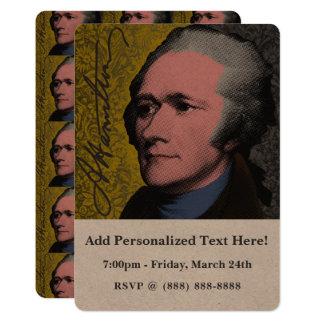 Alexander Hamilton Pop Art Portrait Card