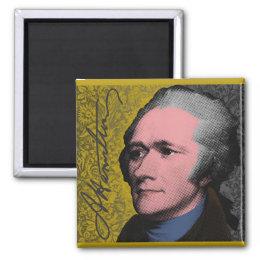 Alexander Hamilton Pop Art Portrait Magnet