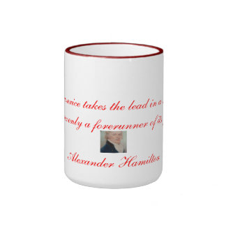 Alexander Hamilton Quotation 3 Ringer Coffee Mug