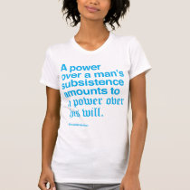 Alexander Hamilton Quote I - Blue T-Shirt