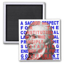 Alexander Hamilton Quote Magnet