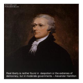 "Alexander Hamilton ""Real Liberty"" Acrylic Poster Acrylic Wall Art"