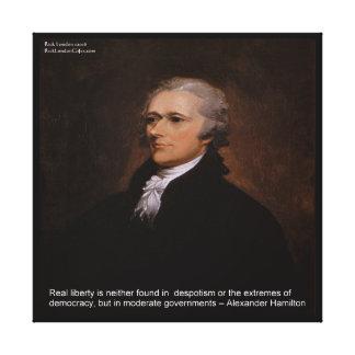"Alexander Hamilton ""Real Liberty"" Canvas Print"