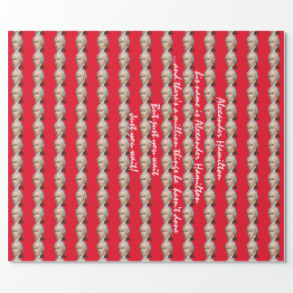 Alexander Hamilton red wrapping paper
