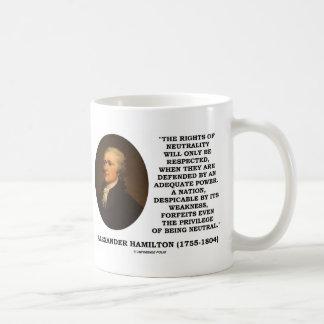 Alexander Hamilton Rights Of Neutrality Power Coffee Mug