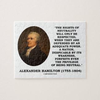 Alexander Hamilton Rights Of Neutrality Power Jigsaw Puzzle