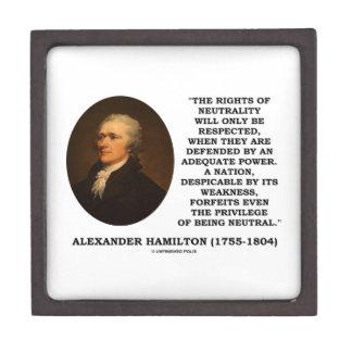 Alexander Hamilton Rights Of Neutrality Power Keepsake Box