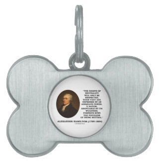 Alexander Hamilton Rights Of Neutrality Power Pet Tag